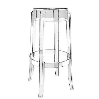 Fusion Living Ghost Style Bar Stolce Crystal Clear - 66cm