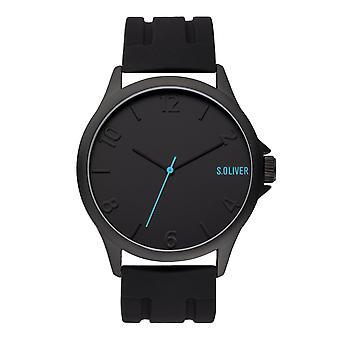 s.Oliver Herren Uhr Armbanduhr Edelstahl Silikon SO-3904-PQ