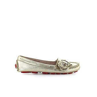 LOVE MOSCHINO PLATINUM LEATHER MOCCASIN