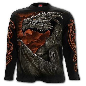 Spiraal-majestueuze Draco-t-shirt met lange mouwen