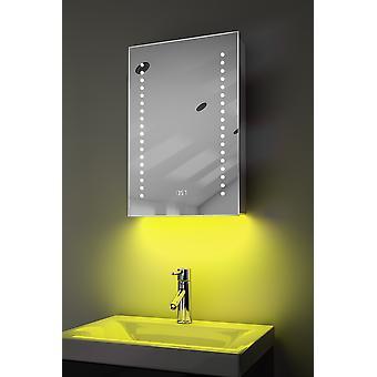 Klok kabinet met LED onder verlichting, ontwasemer, Sensor & scheerapparaat k381w