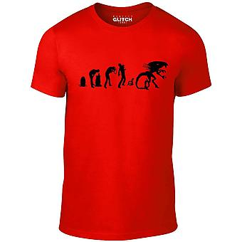 Men's evolution of alien t-shirt
