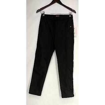 Billabong Pants Two Pocket Cropped Style w/ Pleat Black Womens