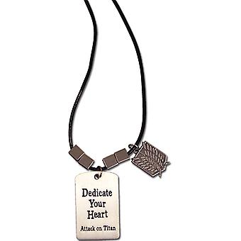 Necklace - Attack on Titan - New Scouting Regiment w/ Metal Tag ge36490