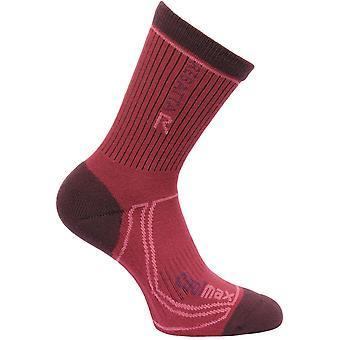 Regatta Ladies 2 Season Coolmax Trek Wicking Walking Socks Red