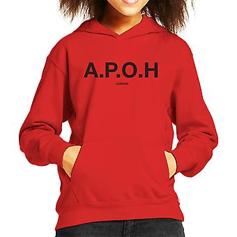 A.P.O.H Classic Black Logo Kid's Hooded Sweatshirt