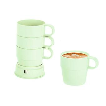 Set of 4 cups in bamboo fiber-green