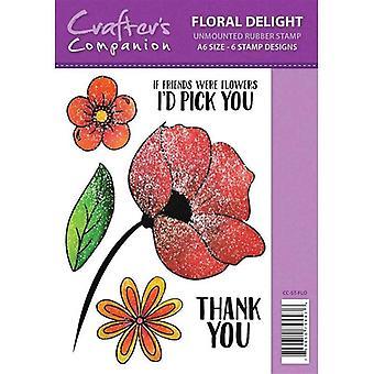 Sparkle by Spectrum Noir A6 Rubber Stamp - Floral Delight Stamp