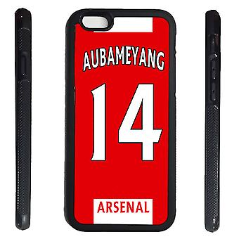 iPhone 6 6s Shell Aubameyang Rubber Kal Arsenal