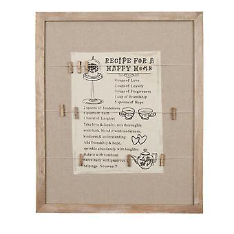 Clayre & amp; Eef decoratieve grote Memo Board van MDF in landhuis stijl ca. 50x60x1 cm