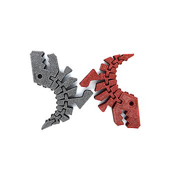 2x Rex dinosaurie flexible decoration red-gray