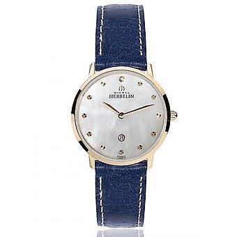 Michel Herbelin 16915-PR59BL Women's Rose Gold PVD Ikone Wristwatch