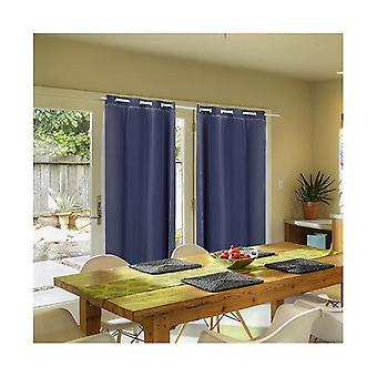 2 Pcs 3 Layers 140X213Cm Blockout Curtains Soft Gauze