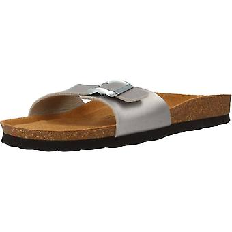 Gele sandalen Tallinn kleur zilver