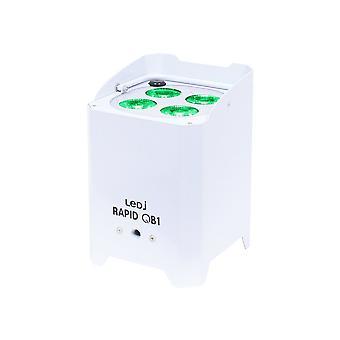 LEDJ Ledj Rapid Qb1 Rgba Batteri drevet Led Par - Hvid