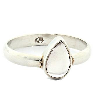 Ring 925 sølv med rosenkvarts 52 mm/x 16,6 mm (KLE-RI-155-07-(52))