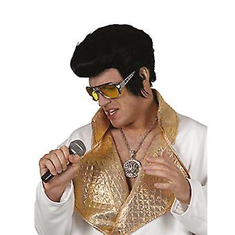 Rocker paryk black mænds Elvis tilbehør Halloween Carnival