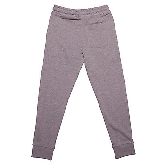 Junior Boys Money Chrome Ape Jog Pantalon en gris Heather- Ribbed Waistband Et