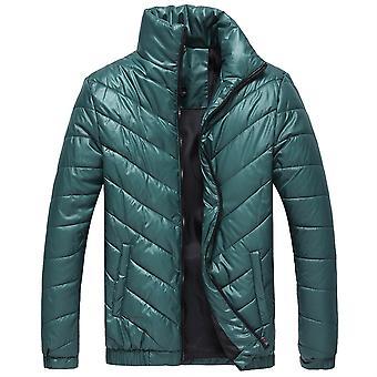 Allthemen Mens Твердые случайные Стенд Воротник Пальто Зимний Теплый Толстый Outwear Циппер пальто Плюс размер