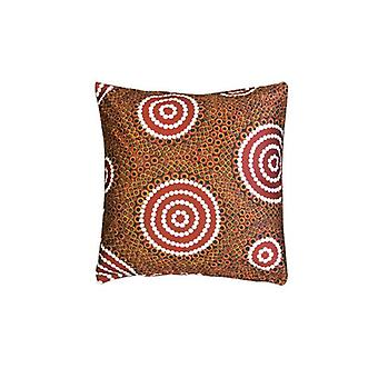 Water Hole Dreaming Aboriginal Design Cushion Cover