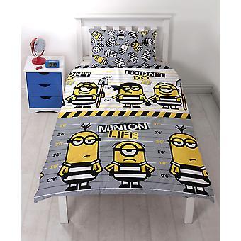Minion's Stupid Me Jailbird2 Slakanset Bed set 135x200+48x74cm