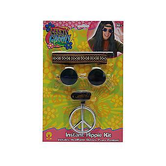 Hippi asettaa pala ketjun lasit otsapanta lisävaruste Carnival hippy men 3
