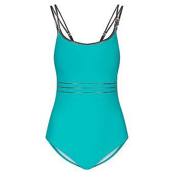 Féraud 3205159-10841 Women's Turquoise One Piece Zwempak