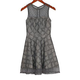 City Studio Jr Dress Lace And Mesh Sleeveless Gray