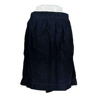 Isaac Mizrahi Live! Skirt TRUE DENIM Pull-On Blue A278073