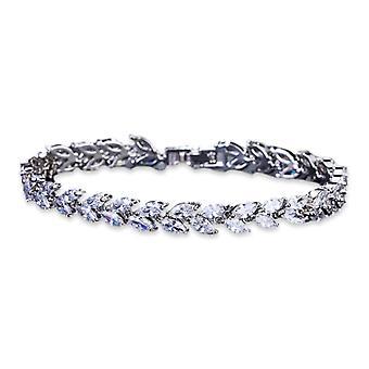 Crystal Leaf Tennis Bracelet