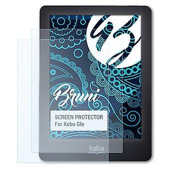 Bruni 2x Schutzfolie kompatibel mit Kobo Glo Folie