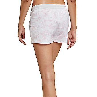 Rösch 1202026-16406 Women's Be Happy White Graphic Flower Pyjama Short