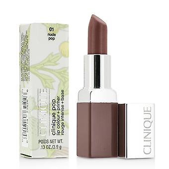 Cor labial pop Clinique + primer # 01 nude pop 188257 3.9g/0.13oz