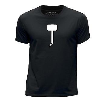 STUFF4 Boy's Round Neck T-Shirt/Thor Hammer Inspired/Black