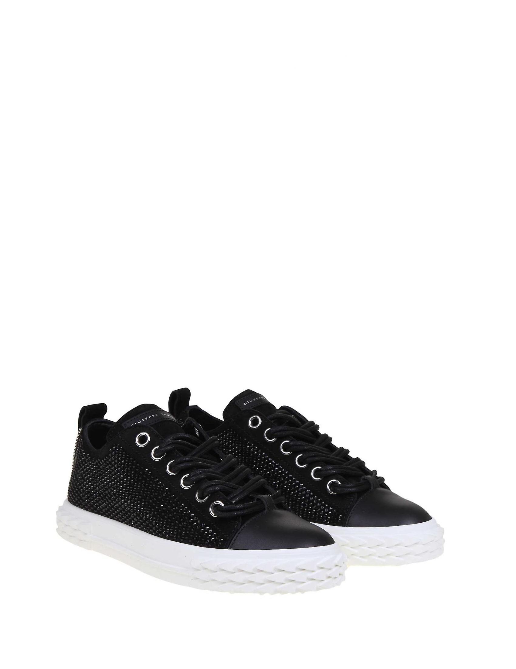Giuseppe Zanotti Design Rs00051001 Women's Black Leather Sneakers