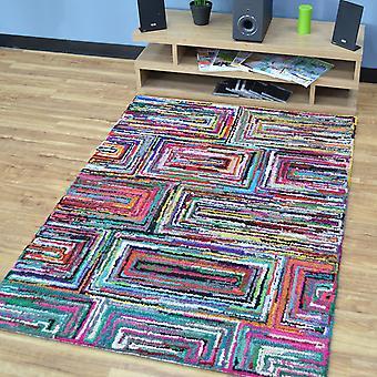 Katoen Chindi Galaxy veelkleurige tapijten 08