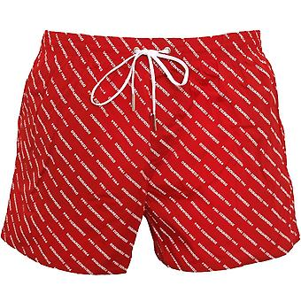 DSquared2 Gjenta Logo Swim Shorts, Rød