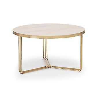 Gillmore Deco - Table basse circulaire moyenne avec divers hauts en bois et options de couleurs de cadre