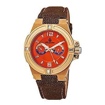 Burgmeister-ladies ' quartz watches with analog Display, colour: Orange and Brown fabric Canvas Bracelet 220-390 BM