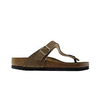 Birkenstock Gizeh Gold Leopard Print Womens Slip On Toe Post Sandals