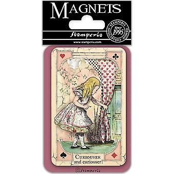 Stamperia Alice Utelias 8x5.5cm Magneetti