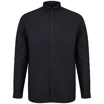 Henbury Mens Modern Long Sleeve Classic Fit Oxford Shirt