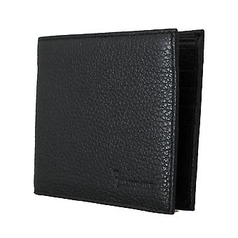 Black leather bifold wallet a67