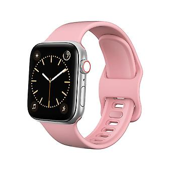 Pulseira Apple Watch 42/44 Silicone - Rosa