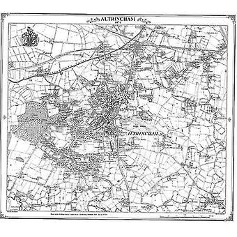 Altrincham 1874 Map by Peter J. Adams - 9781905718870 Book