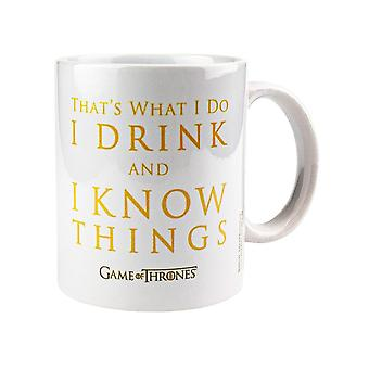 Game of Thrones, Mug - Drink And Know Things