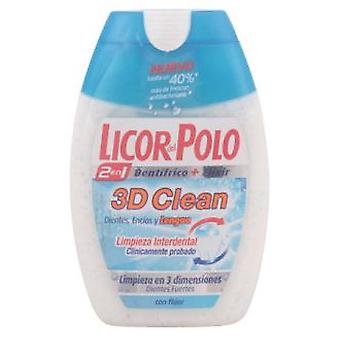 Licor Del Polo 3D Clean 2 in 1 Toothpaste 75 ml