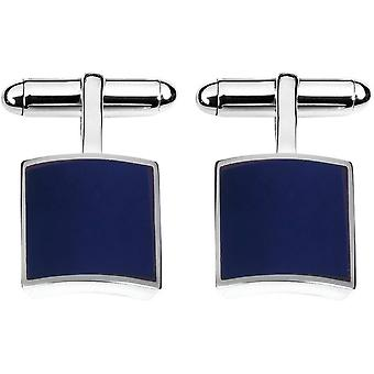 Orton West Sterling Silver Lapis Lazuli Square Cufflinks - Silver/Blue