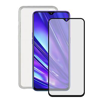 Härdat glas Mobil skärmskydd + Mobile Case Realme 5 Pro Kontakt