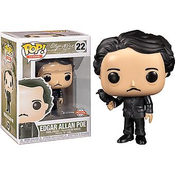 Pop Icons Edgar Allan Poe with Raven US Excl Pop! Vinyl